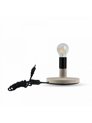 Concrete Table Lamp Black ф170