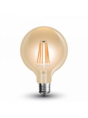 LED Bulb - 6W Filament  E27 G125 Amber 2300K - NEW