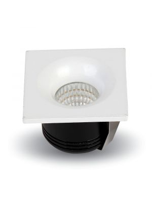 3W LED Downlight Fixed Type Square 6400K - NEW