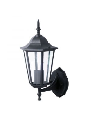 Wall Lamp E27 Matt Black Up - NEW