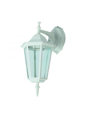 Wall Lamp E27 Matt White Down - NEW