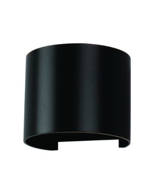 6W Wall Lamp Black Body Round IP65 3000K - NEW